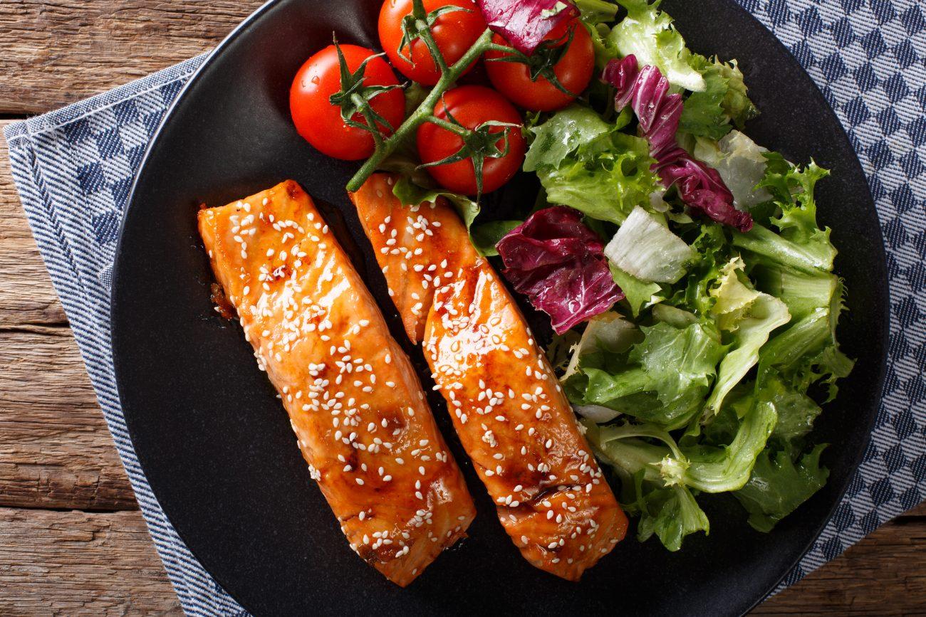 Glazovaný losos